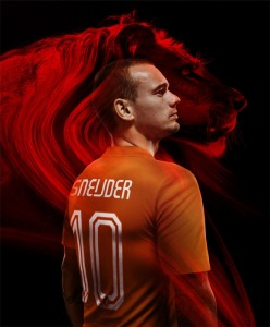 Sneijder in shirt WK 2014