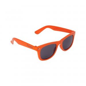 een oranje zonnebril